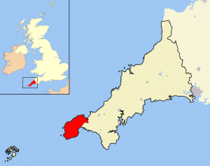 Map of Cornwall